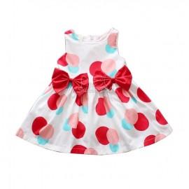 Платье с красными бантами
